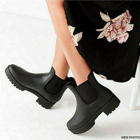 52d722672 Jeffrey Campbell Shoes - JEFFREY CAMPBELL Cloudy Chelsea Rain Boot